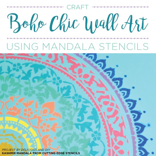 Craft Boho Chic Wall Art Using Mandala Stencils Stencil