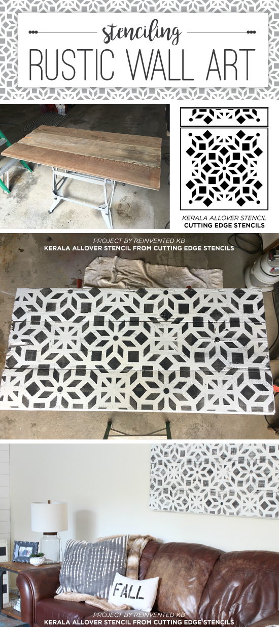 Cutting Edge Stencils shares how to stencil on wood to create rustic farmhouse wall art using  sc 1 st  Cutting Edge Stencils & Stenciling Rustic Wall Art