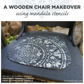 A Wooden Chair Makeover Using Mandala Stencils
