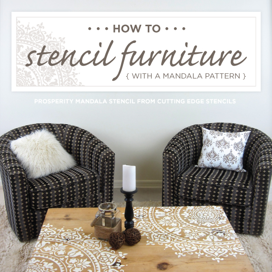 How To Stencil Furniture With A Mandala Pattern - Stencil Stories Stencil  Stories