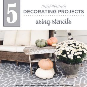 Cutting Edge Stencils shares DIY home decorating ideas spotted on Instagram using wall and craft stencil patterns. http://www.cuttingedgestencils.com/wall-stencils-stencil-designs.html