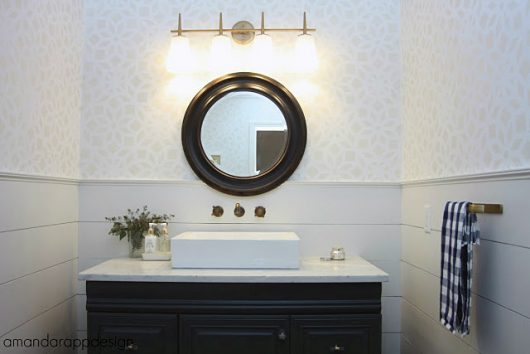 A Stenciled Bathroom Makeover Using The Kerala Alr Pattern on gray front stoop designs, gray wall designs, gray colored bathrooms, gray living room interior, gray tables, updated bathrooms designs, master bedroom designs, gray color designs, gray painted bathrooms, gray office design, gray bedroom, gray painting, gray marble bathrooms, gray closets, gray room designs, gray interior designs, gray foyer designs, gray photography, gray bath, gray living room decorating,