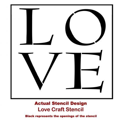 The LOVE Christmas Craft Stencil from Cutting Edge Stencils. http://www.cuttingedgestencils.com/christmas-stencils-diy-home-decor.html