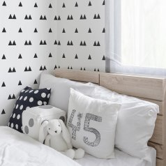 The Scandinavian Triangle Allover Stencil from Cutting Edge Stencils. http://www.cuttingedgestencils.com/scandinavian-triangles-wall-stencil-modern-nursery-wall-pattern.html