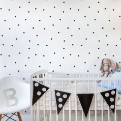 The Tiny Dots Allover Stencil from Cutting Edge Stencils. http://www.cuttingedgestencils.com/tiny-polka-dots-wall-stencil-modern-minimalistic-nursery-decor.html