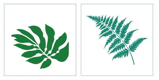 The Bermuda Breeze and the Fern Accent Pillow Stencil Kits from Cutting Edge Stencils. http://www.cuttingedgestencils.com/bermuda-breeze-stencils-paint-a-pillow-kit.html