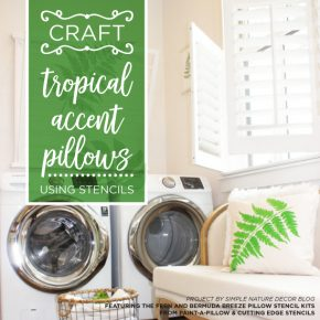 Craft Tropical Accent Pillows Using Stencils