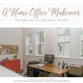 A Home Office Makeover Featuring the Tea House Trellis Pattern
