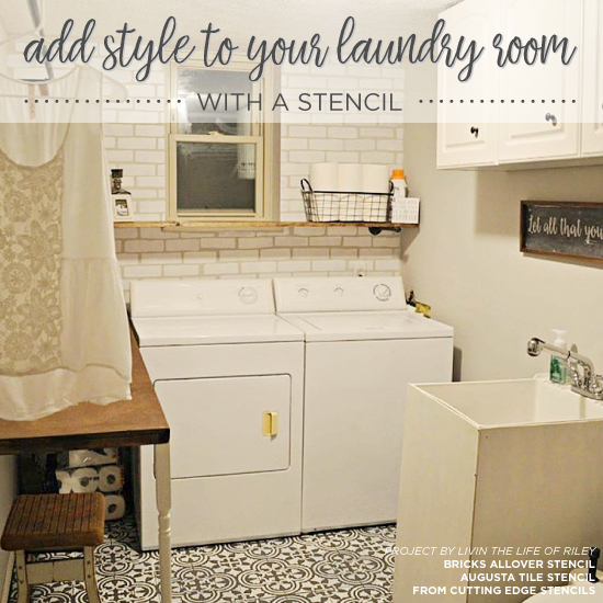 Add Style To Your Laundry Room With A Stencil on bathroom with tile shower designs, bathroom with tile floor designs, kitchen room designs, bathroom with walk in closet designs, bathroom with fireplace designs, bathroom laundry room layout, bathroom with outdoor kitchen designs, bathroom with marble countertops, bathroom with jacuzzi designs,