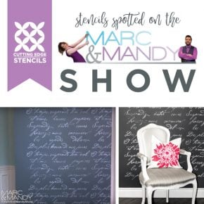 The Canadian Marc and Mandy Show shares how to create a statement wall using the French Poem pattern. http://www.cuttingedgestencils.com/french-typography-letter-wall-stencil.html