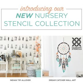 Cutting Edge Stencils is excited to introduce NEW nursery stencil patterns for walls, furniture, and DIY home decorating projects. http://www.cuttingedgestencils.com/nursery-stencils-walls.html