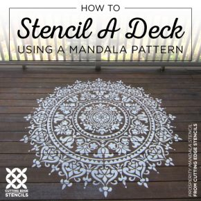 How To Stencil A Deck Using A Mandala Pattern