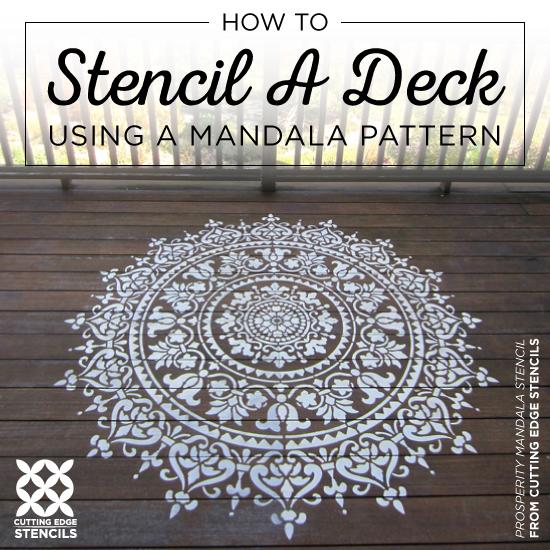 How To Stencil A Deck Using A Mandala Pattern