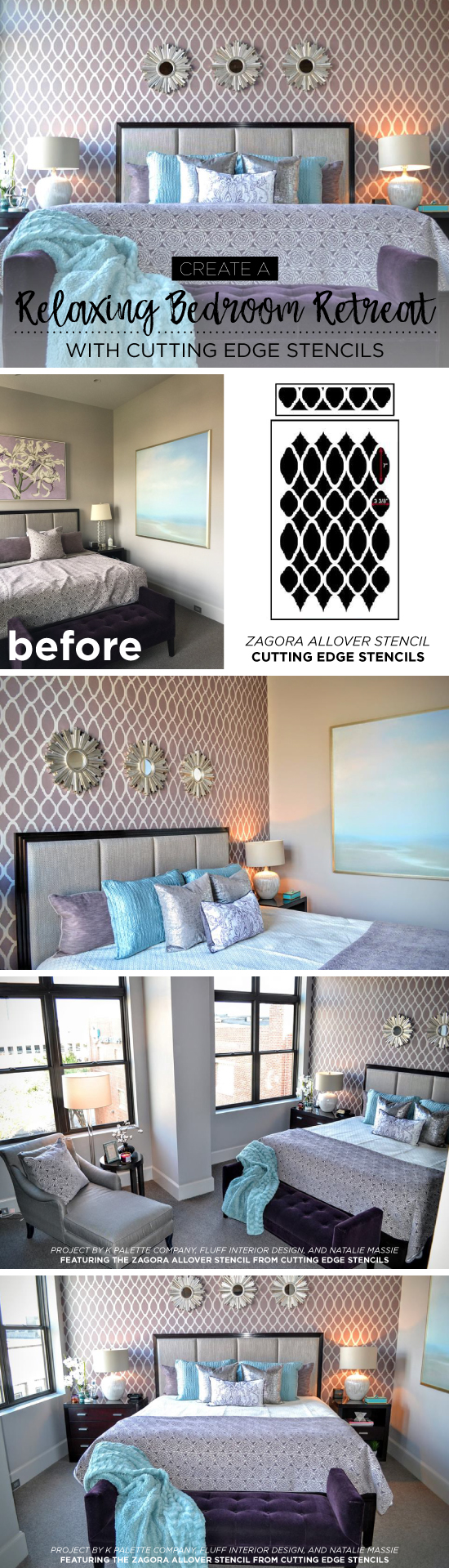 Create A Relaxing Bedroom Retreat Using Stencils - Stencil Stories ...