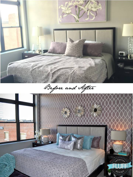 create a relaxing bedroom retreat using stencils