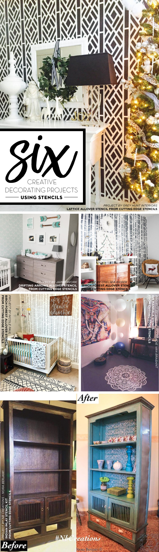 Six creative decorating projects using stencils stencil stories cutting edge stencils shares diy decorating projects using our stencil designs for walls and furniture amipublicfo Image collections