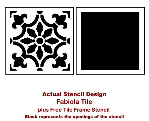 The Fabiola Tile Stencil is Based on traditional Portuguese Azulejos tile designs from Cutting Edge Stencils. http://www.cuttingedgestencils.com/fabiola-tile-stencil-spanish-portugese-tiles-stencils.html