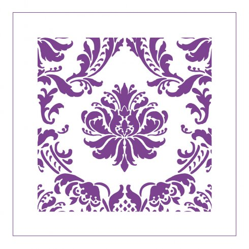 The Gabrielle Damask Stencil pattern for accent pillows from Cutting Edge Stencils. http://www.cuttingedgestencils.com/gabrielle-damask-stencils-paint-a-pillow-kit.html