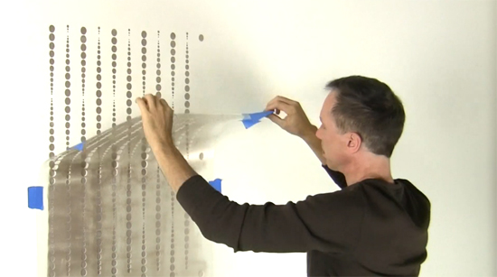 Learn how to stencil a wallpaper pattern on an accent wall using the Beads Allover Stencil from Cutting Edge Stencils. http://www.cuttingedgestencils.com/beads-wall-stencil-pattern.html