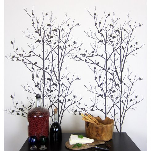 How To Stencil The Birds In Trees Wall Pattern Stencil