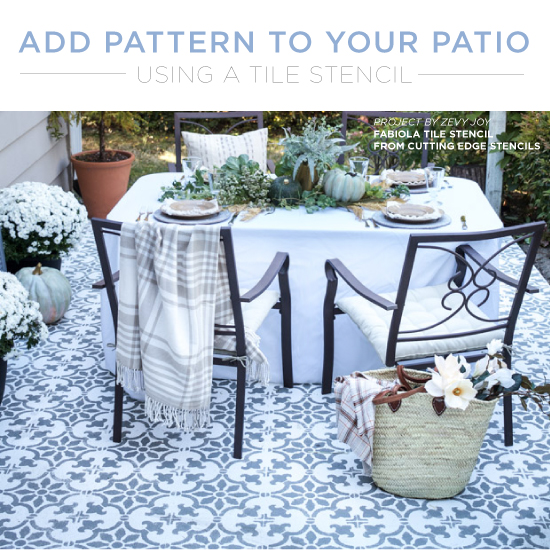 Add Pattern To Your Patio Using A Tile Stencil   Stencil Stories Stencil  Stories