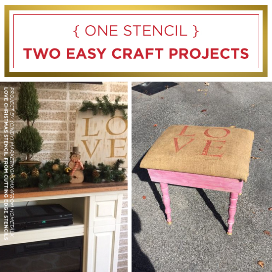 One Stencil Two Easy Craft Projects