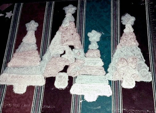 Learn how to stencil a piece of fabric to create a custom Christmas tablecloth using the Fancy Christmas Tree Craft Stencil from Cutting Edge Stencils. http://www.cuttingedgestencils.com/fancy-christmas-trees-craft-diy-holiday-craft-stencils.html