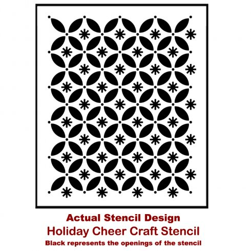 The Holiday Cheer Craft Stencil is a fun geometric Christmas pattern from Cutting Edge Stencils. http://www.cuttingedgestencils.com/christmas-stencils-designs-holiday-cheer.html
