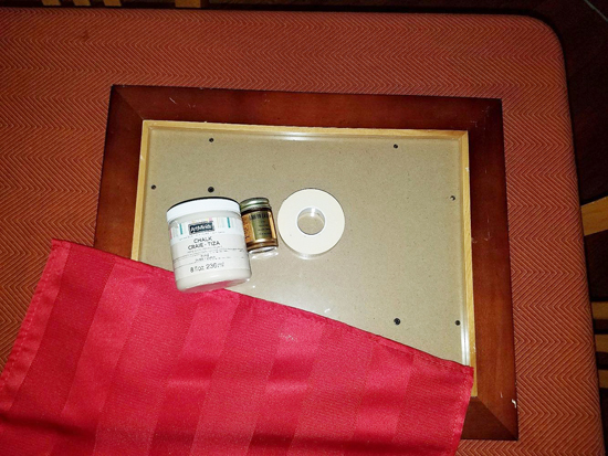 Supplies needed to stencil a DIY Holiday tray using the Merry Christmas Craft Stencil from Cutting Edge Stencils. http://www.cuttingedgestencils.com/merry-christmas-crafts-stencil-design-diy-holiday-decor.html