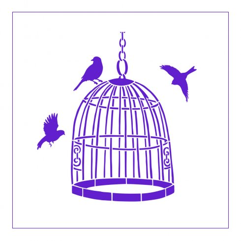 The Bird Cage Accent Pillow Stencil Kit from Cutting Edge Stencils. http://www.cuttingedgestencils.com/bird-cage-stencils-paint-a-pillow-kit.html