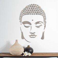 The Buddha Wall Art Stencil from Cutting Edge Stencils. http://www.cuttingedgestencils.com/buddha-stencil-midfullness-decor-wall-decal-yoga-stencils.html