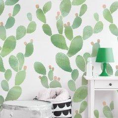 The Prickly Pear Allover Stencil from Cutting Edge Stencils. http://www.cuttingedgestencils.com/prickly-pear-wall-stencils-cactus-wallpaper-stencil-design.html