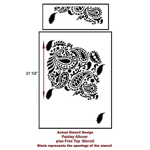 The Paisley Allover Stencil, a popular wall pattern, from Cutting Edge Stencils. http://www.cuttingedgestencils.com/paisley-allover-stencil.html