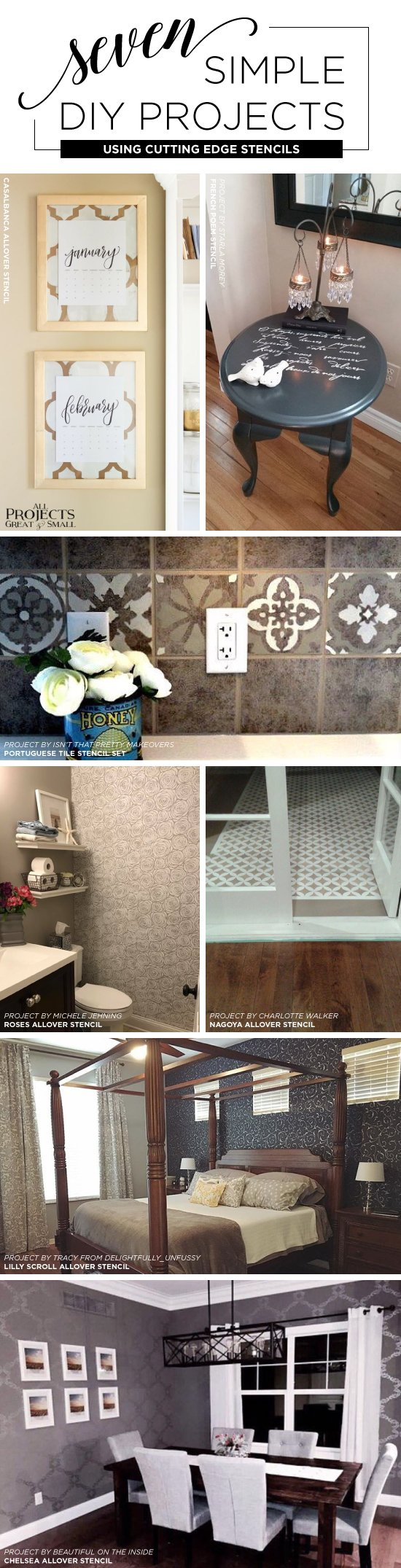 Seven simple diy projects using stencils stencil stories cutting edge stencils shares easy and affordable diy decorating ideas using stencil patterns http amipublicfo Images