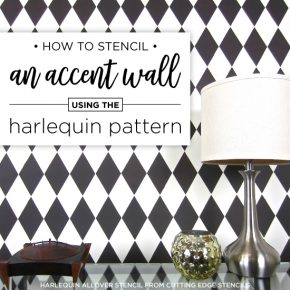 Cutting Edge Stencils shares a stencil tutorial showing how to paint the Harlequin Allover pattern, a diamond wall stencil. http://www.cuttingedgestencils.com/harlequin-stencil-pattern.html
