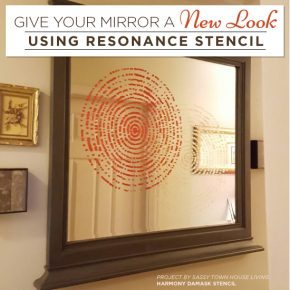 Give Your Mirror A New Look Using Stencils