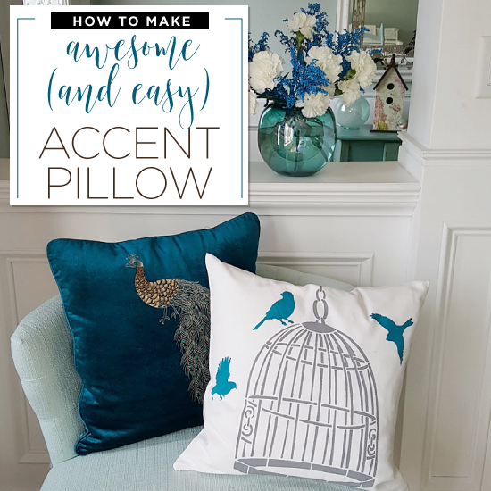 How To Make An Awesome And Easy Accent Pillow Using Stencils Simple Making A Decorative Pillow