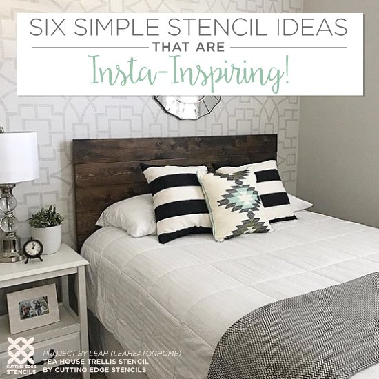 Six Simple Stencil Ideas That Are Insta-Inspiring! on inexpensive lighting ideas, inexpensive bedroom flooring ideas, inexpensive window covering ideas, inexpensive bedroom furniture, hipster bedroom ideas, affordable bedroom ideas, cheap bedroom ideas, inexpensive kitchen ideas, bedroom paint ideas, inexpensive master bedroom ideas, inexpensive bedroom storage ideas, inexpensive wall decor ideas, inexpensive girls bedroom ideas, inexpensive living room ideas, inexpensive bedroom organization, inexpensive guest bedroom ideas, inexpensive bedroom bedding, inexpensive home ideas, inexpensive furniture ideas, inexpensive interior door ideas,