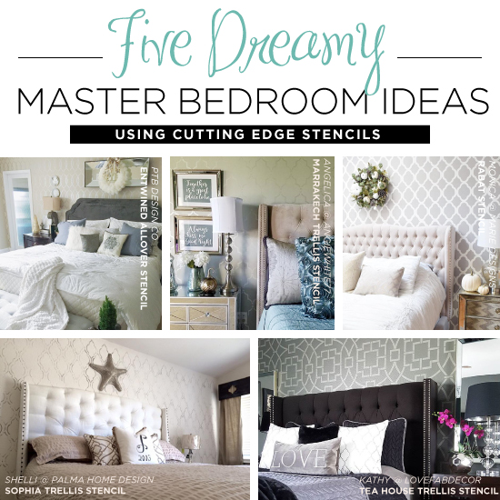 5 Beautiful Accent Wall Ideas To Spruce Up Your Home: Five Dreamy Master Bedroom Ideas Using Stencils