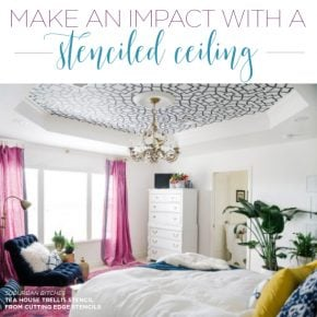 Cutting Edge Stencils shares how stencil patterns can give a boring ceiling presence and style. http://www.cuttingedgestencils.com/wall-stencils-stencil-designs.html