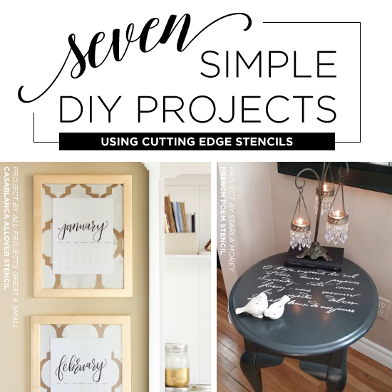 Seven Simple DIY Projects Using Stencils