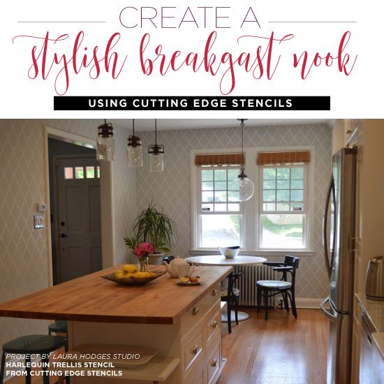 Create A Stylish Breakfast Nook Using Stencils
