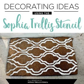 Decorating Ideas Using The Sophia Trellis Stencil
