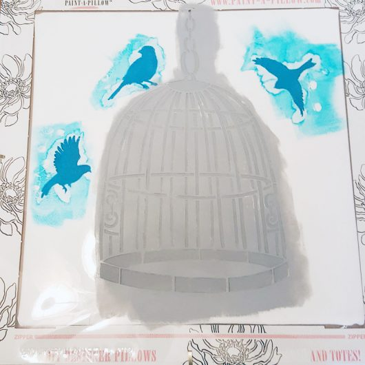 Learn how to stencila DIY decorative pillow using the Bird Cage Accent Pillow Stencil Kit from Cutting Edge Stencils. http://www.cuttingedgestencils.com/bird-cage-stencils-paint-a-pillow-kit.html