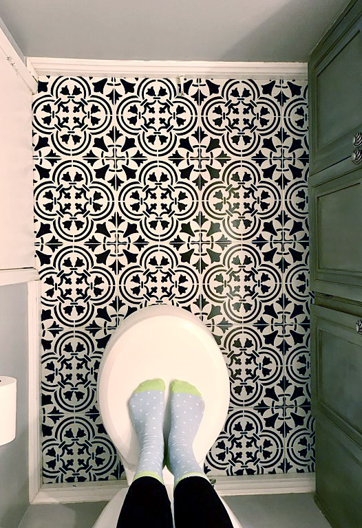 Stencil Pinterest Worthy Tile For Under 50