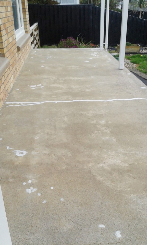 A Concrete Patio Before Its Stenciled Makeover Using The Nagoya Allover  Stencil. Http:/