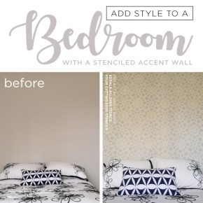 Add Style To A Bedroom With A Stenciled Accent Wall