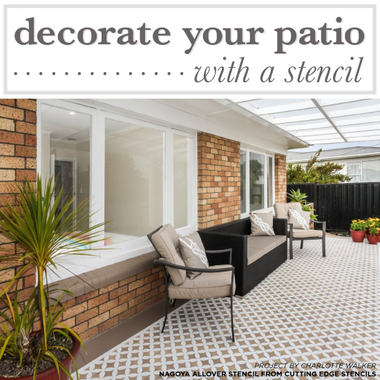 Decorate Your Cement Porch With A Stencil Stencil