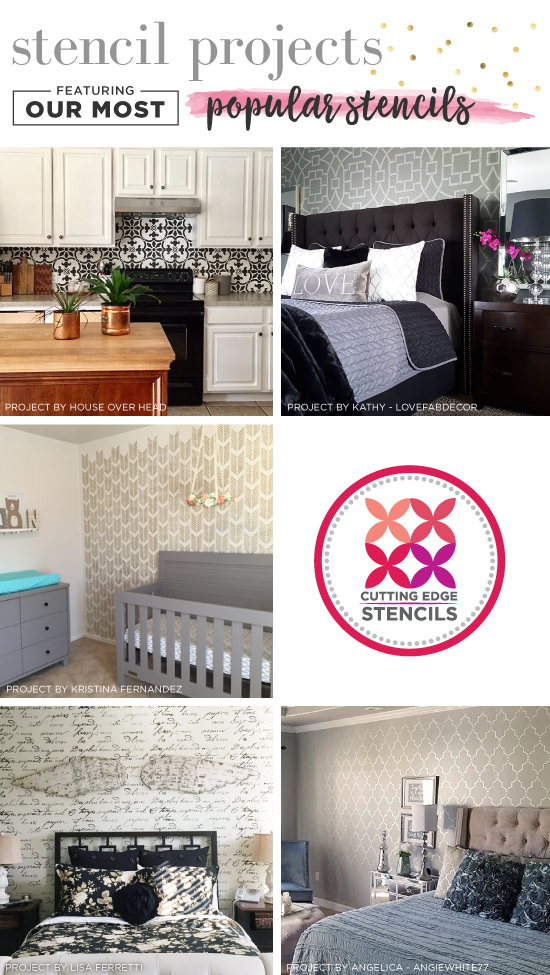 Stencil Projects Featuring Our Most Popular Stencils