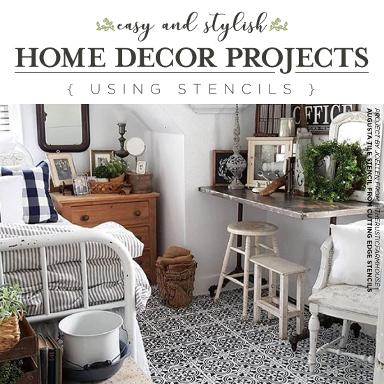 Easy And Stylish Home Decor Projects Using Stencils   Stencil Stories  Stencil Stories